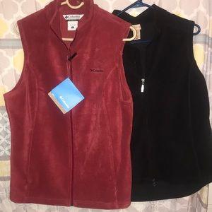 Women's Columbia fleece vest bundle